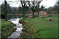 SJ9682 : Stream and lake at Lyme Park by David Lally