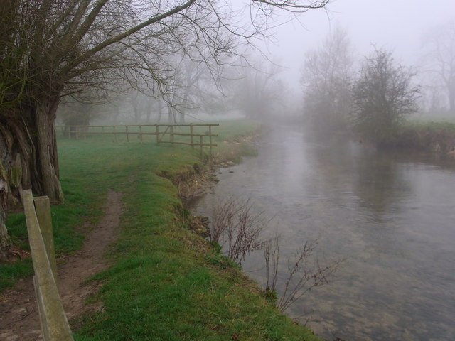 Upstream from the footbridge