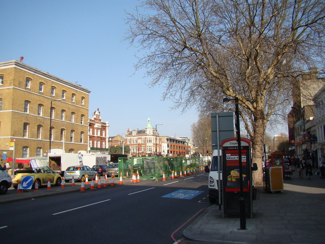 View of the White Hart from Whitechapel Road