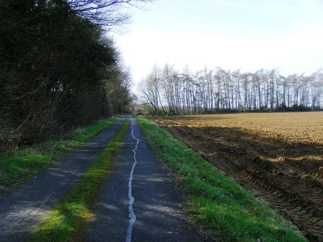 Grass strip marks midline of Hyde Road