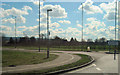 SP8512 : Aston Clinton Road at A41 roundabout by John Firth
