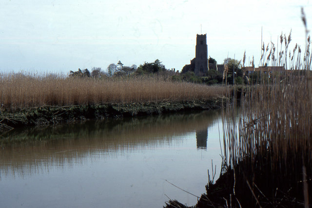 River Blyth looking towards Blythburgh church
