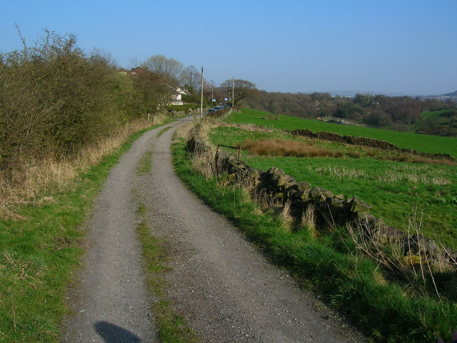 The track from Higher Park Farm