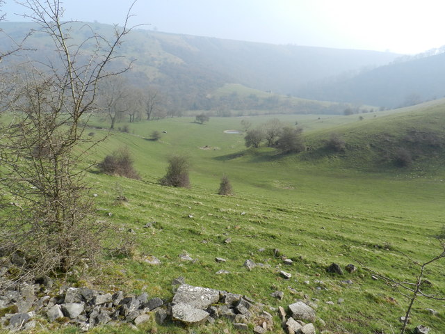 Dewpond in a valley