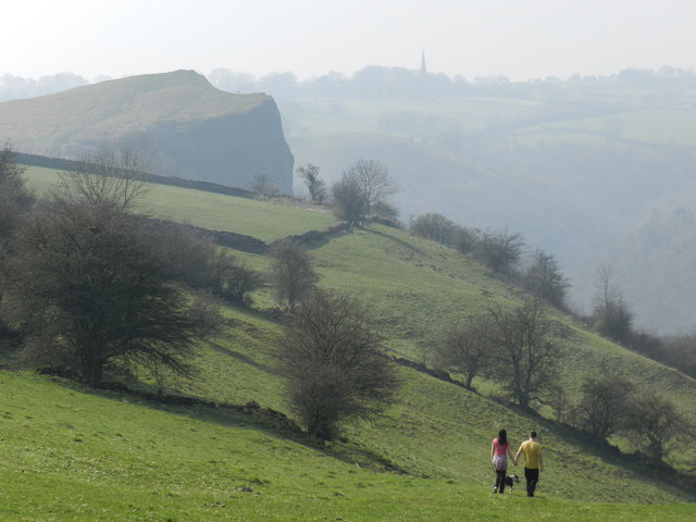 Distant view of Grindon and its church