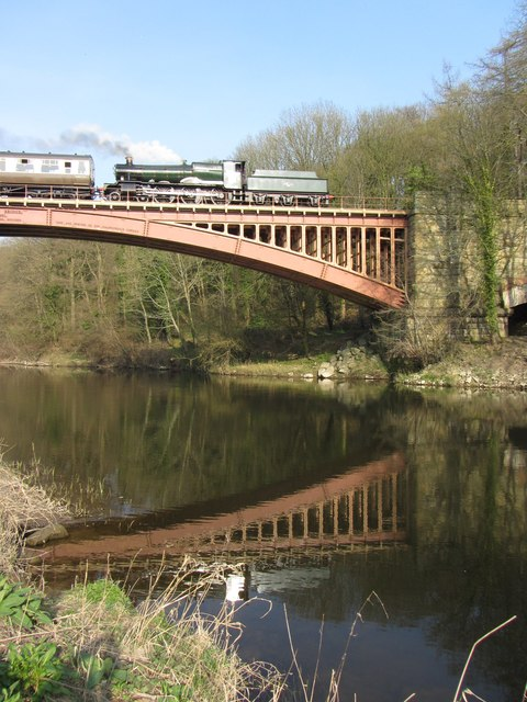Victoria Bridge on the Severn Valley Railway