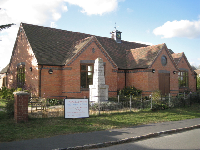 Rebuilt village hall off Townsend Close
