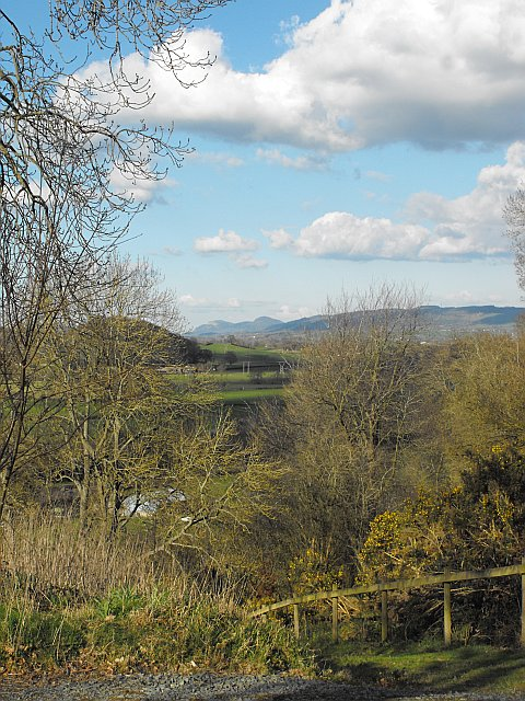 View down the Severn valley from the green burial ground