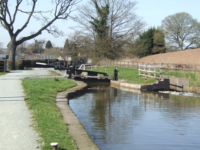 Grindley Brook Locks - Middle Lock
