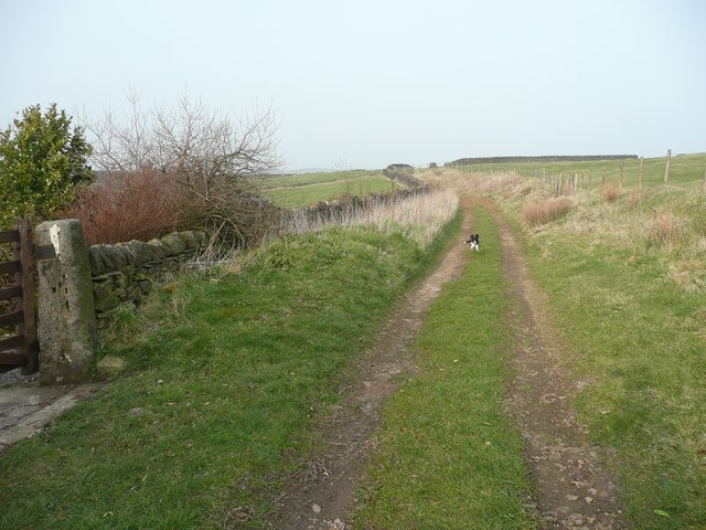 Hebden Royd Bridleway 126 at Round Hill