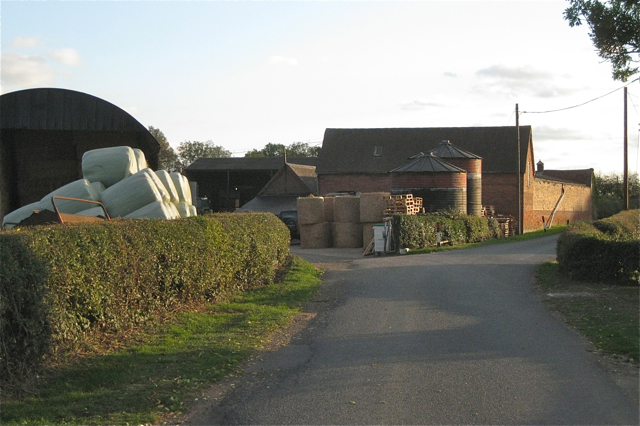 Bales and barns, Burnham's Farm