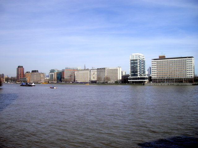 River Thames and The Albert Embankment London