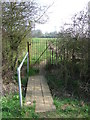 TL7440 : Footbridge And Gate by Keith Evans