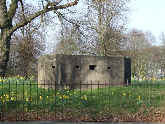 Pillbox in the grounds of Allerton Hall
