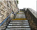 SJ9495 : Steps to Hyde Central by Gerald England