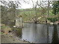 SJ0542 : Bridge remains on the River Dee/Afon Dyfrdwy by M J Richardson