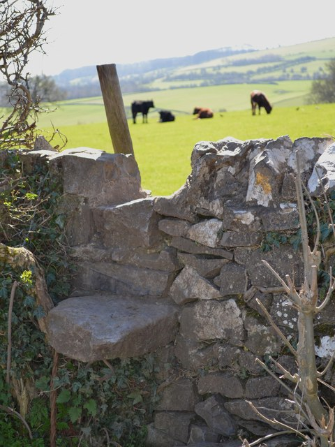 Limestone stile leading off Pennyunk Lane