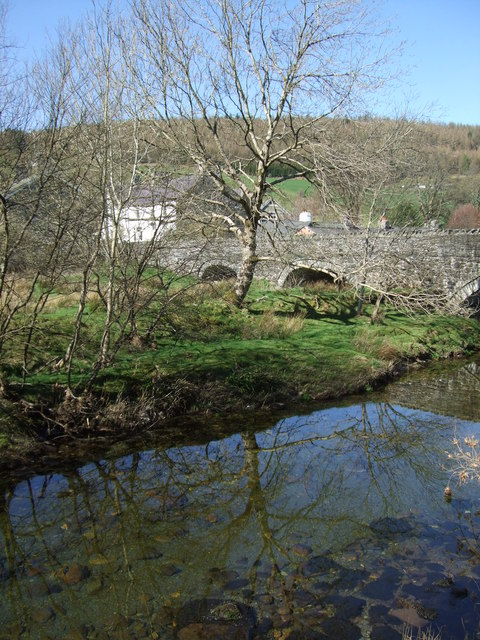 Riverbank at Penmachno