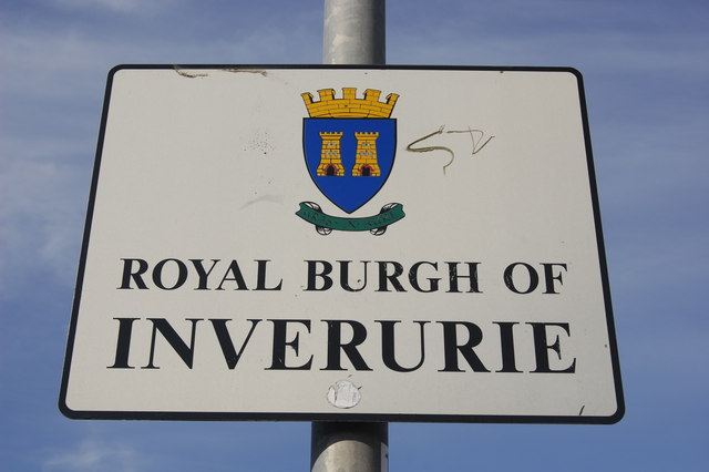 Inverurie town boundary sign