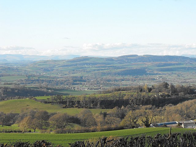 View NNW from Cefn y Coed near White Hall Farm