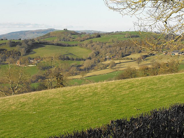 View towards Montgomery from Cefn y Coed