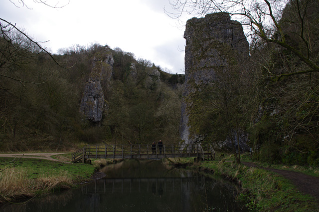 Footbridge at Ilam Rock, Dove Dale