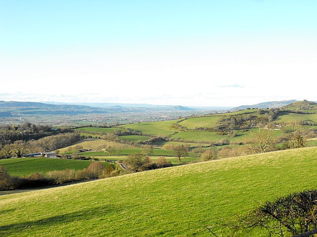 View to Welshpool from Cefn y Coed
