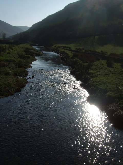 Sunlight on the Afon Machno