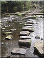 SK3087 : Stepping across the Rivelin by Dave Pickersgill
