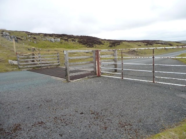 Cattle grid on the watershed between two dales