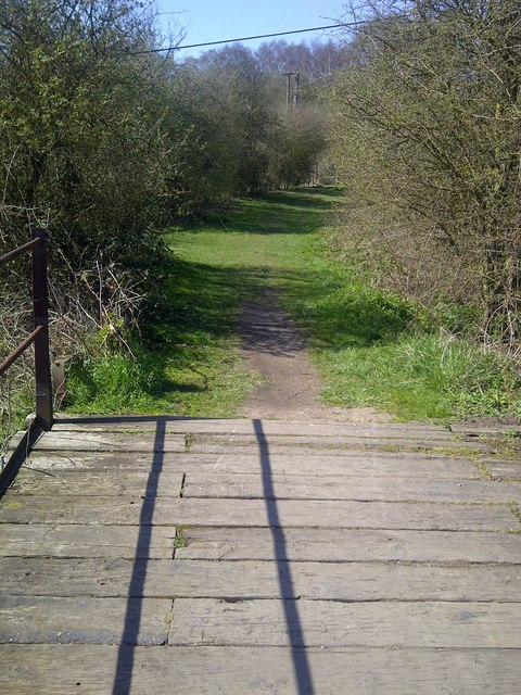 Standing on top of disused bridge 55