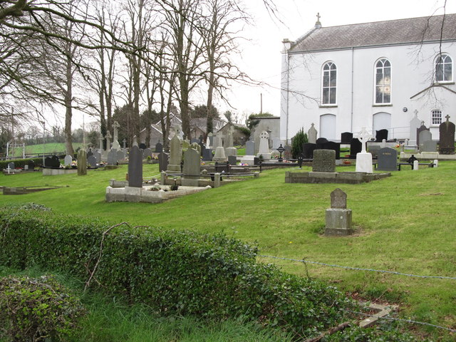 Burial ground at St Colman's Catholic Church, Shinn