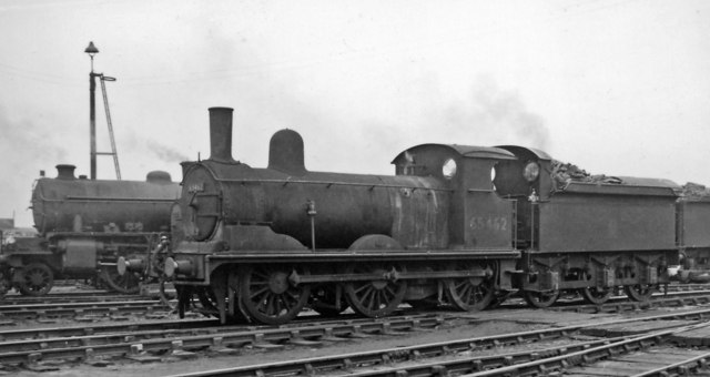 Ex-GE 0-6-0 in Stratford Locomotive Yard
