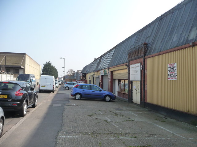 Workshops at the western end of Shaftesbury Road