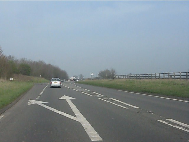 A49 at the northern junction for Prees