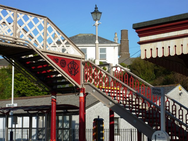 Footbridge Redruth Railway Station