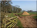 ST0306 : Track along field edge, Upton by Derek Harper