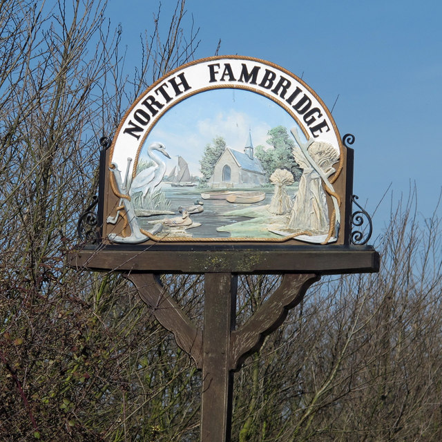 North Fambridge Village Sign (Detail)