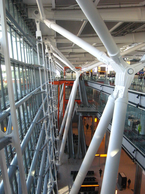 Atrium inside Terminal 5 London Heathrow Airport