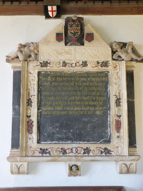 Monument in Templeton Church