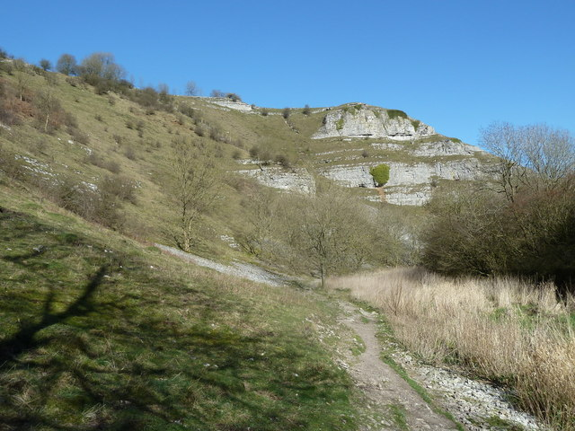 Footpath heading down Lathkill Dale