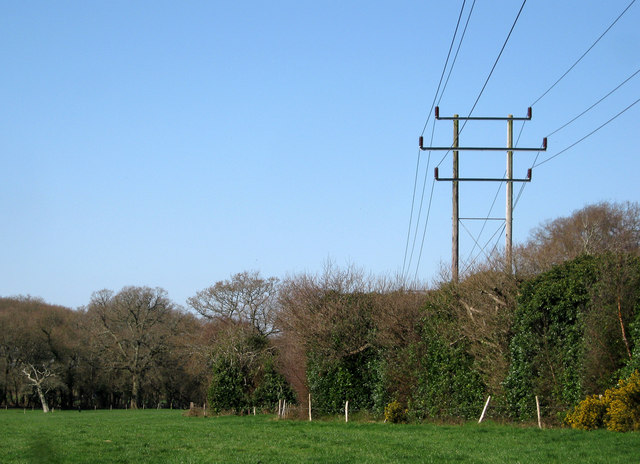 Power lines near Stapehill