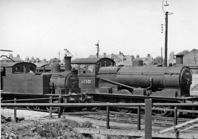 Ex-GE 0-6-0 and 0-6-0T at King's Lynn Locomotive Depot