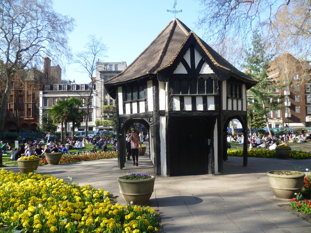 A very crowded Soho Square