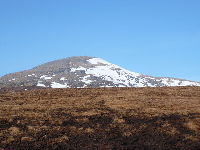 Moorland on the south-eastern slopes of Meall Ghaordaidh