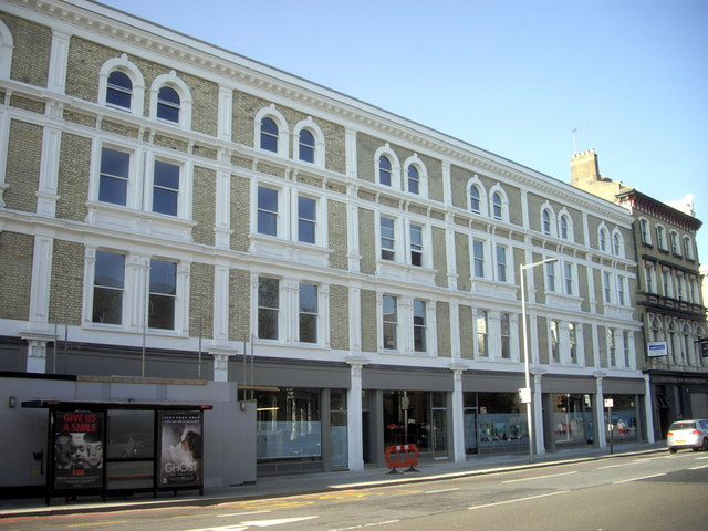 Renovated shops and flats, Fulham Road, Chelsea