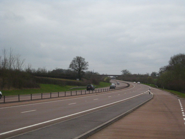 Lay-by on the A30 at Allercombe, looking south west
