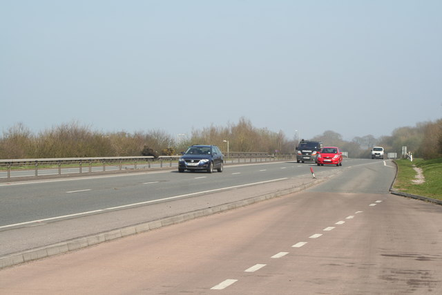Lay-by on the A30 near Alfington, looking east