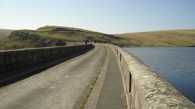 Road on top of the Claerwen Dam