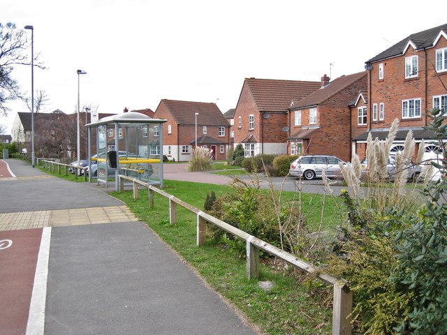 Bus shelter and housing, West Heath